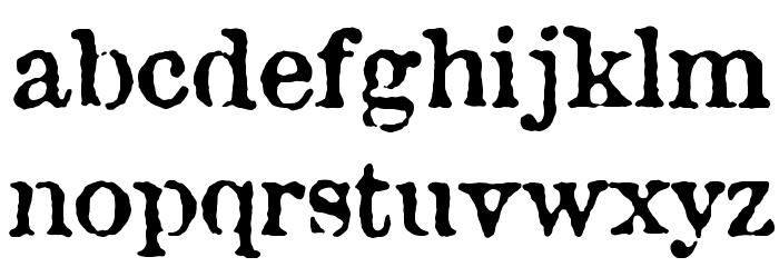 Attic Font LOWERCASE