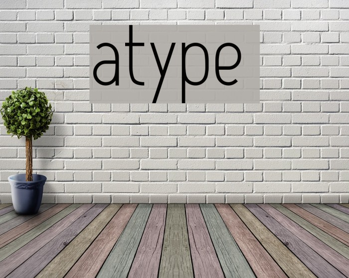 Atype 1 Font examples