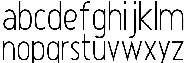 Atype 1 Font LOWERCASE