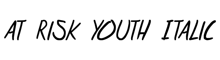 at risk youth Italic  免费字体下载