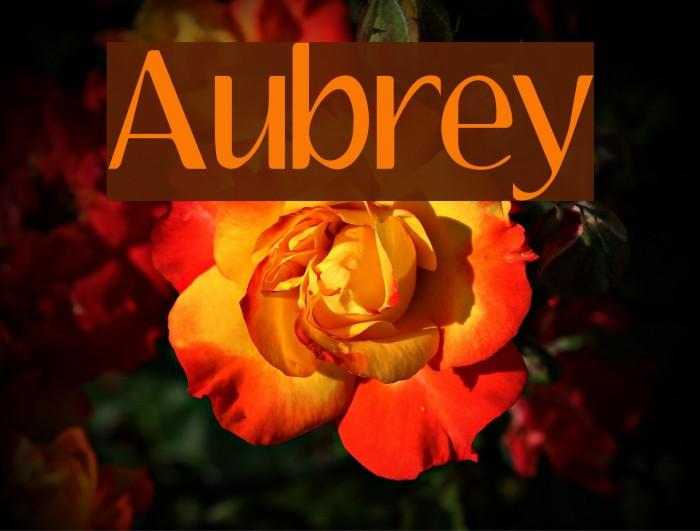 Aubrey Font examples
