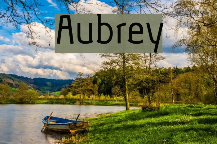 Aubrey Шрифта examples