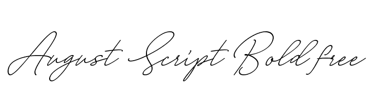August Script Bold free  Free Fonts Download