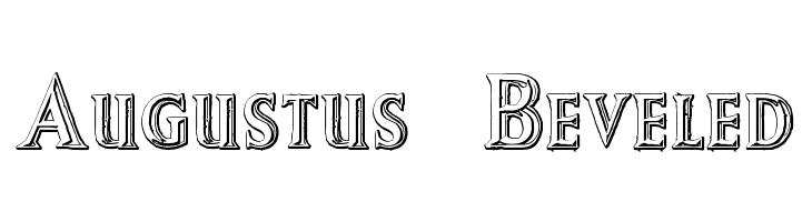 Augustus Beveled  Free Fonts Download
