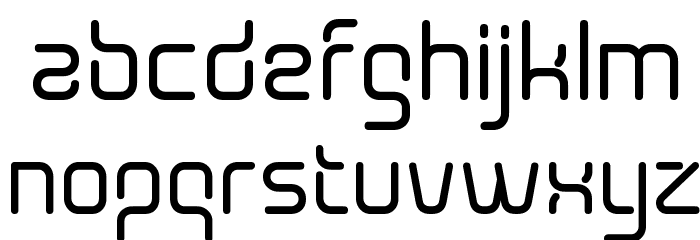 Aunchanted Bold Font LOWERCASE