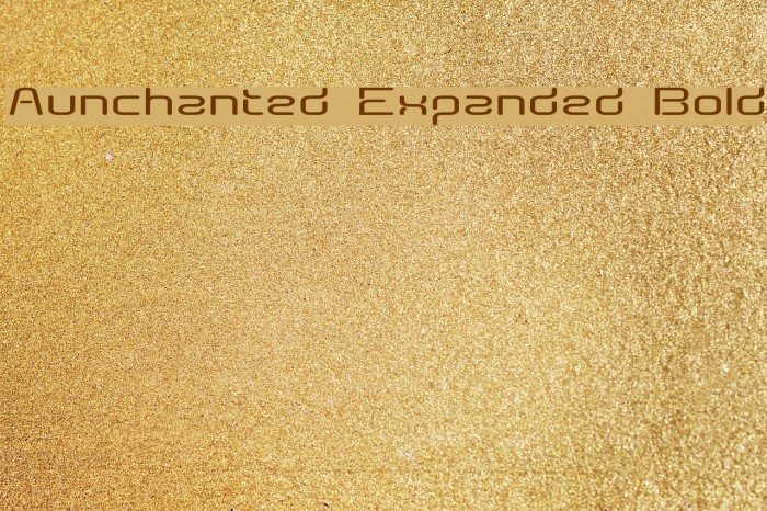 Aunchanted Expanded Bold Fonte examples