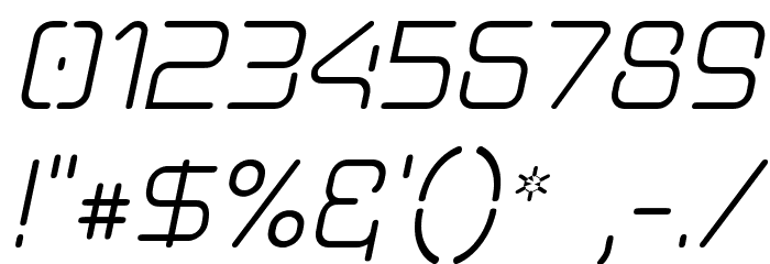 Aunchanted Oblique Font OTHER CHARS