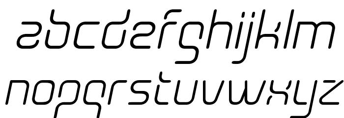 Aunchanted Oblique Font LOWERCASE