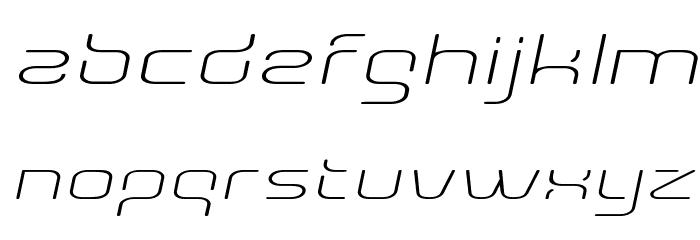 AunchantedThinExpandedOblique Font LOWERCASE