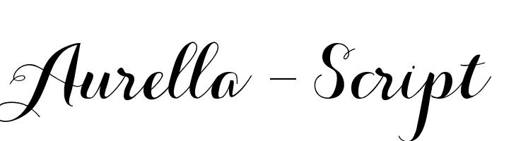 Aurella-Script  Скачать бесплатные шрифты