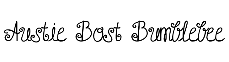 Austie Bost Bumblebee  Free Fonts Download