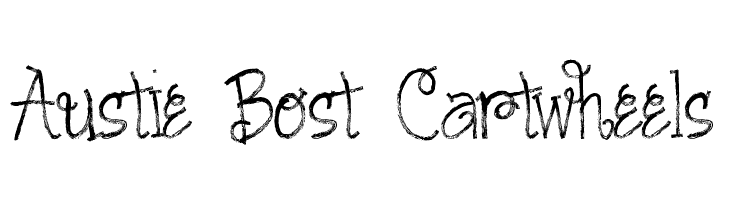 Austie Bost Cartwheels  Free Fonts Download