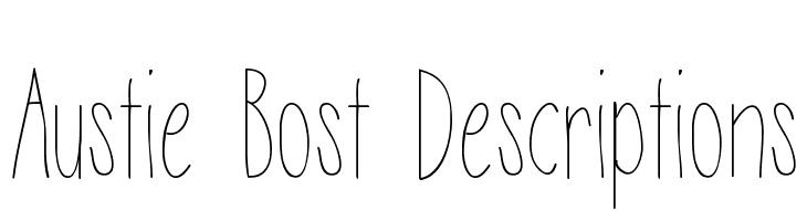 Austie Bost Descriptions  Скачать бесплатные шрифты