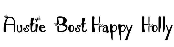 Austie Bost Happy Holly  Fuentes Gratis Descargar