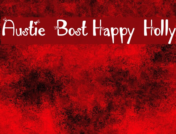 Austie Bost Happy Holly Fonte examples