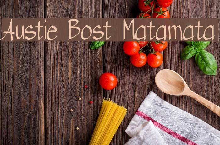 Austie Bost Matamata لخطوط تنزيل examples