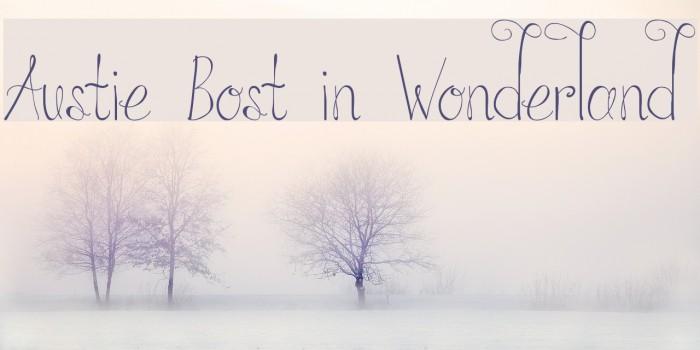 Austie Bost in Wonderland Font examples