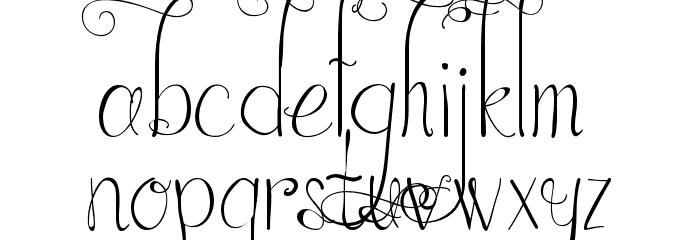 Austie Bost in Wonderland Font LOWERCASE