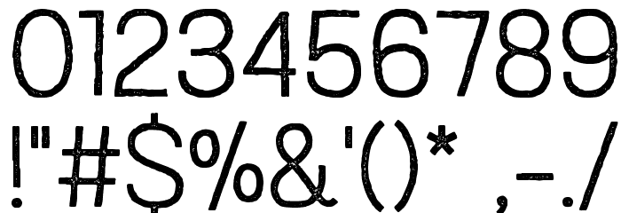 Austral Sans Stamp Light Шрифта ДРУГИЕ символов