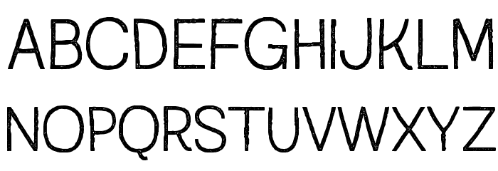 Austral Sans Stamp Light Caratteri MAIUSCOLE