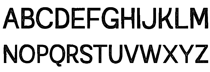 Austral Sans Stamp Regular Шрифта ВЕРХНИЙ