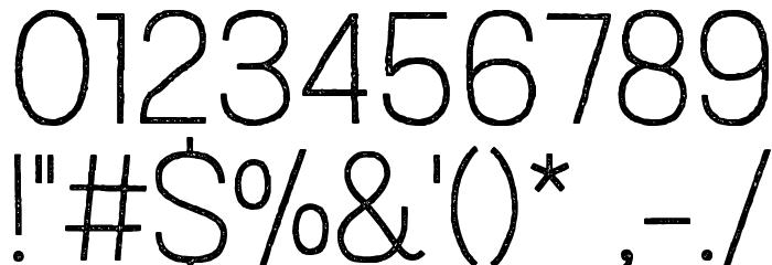 Austral Sans Stamp Thin Шрифта ДРУГИЕ символов