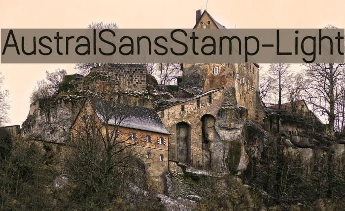 AustralSansStamp-Light Caratteri examples