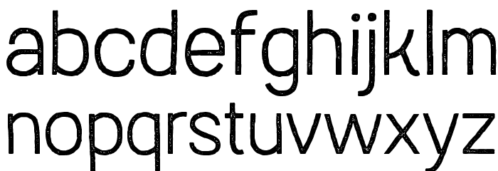 AustralSansStamp-Light Caratteri MINUSCOLO