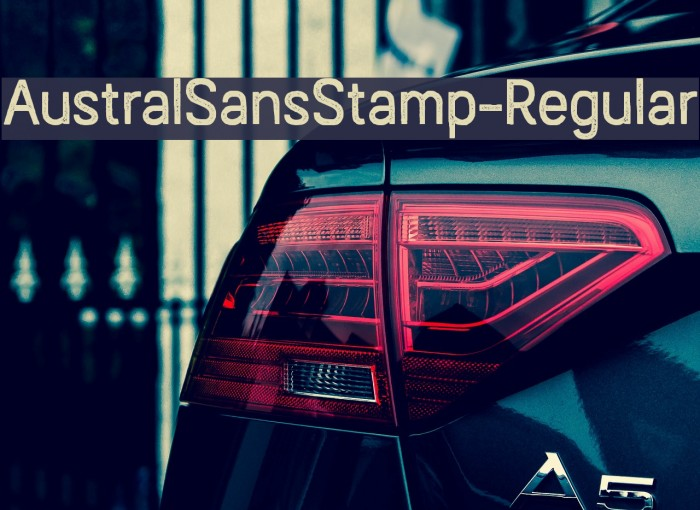 AustralSansStamp-Regular Caratteri examples