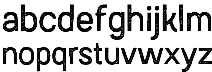 AustralSansStamp-Regular Caratteri MINUSCOLO