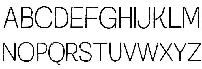 AustralSansStamp-Thin Caratteri MAIUSCOLE