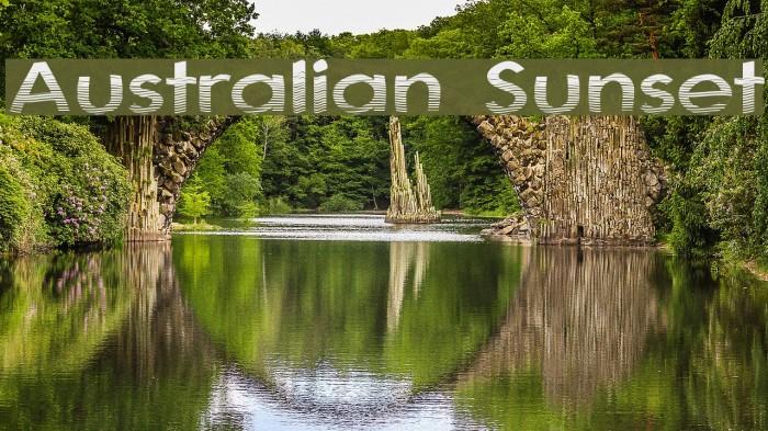 Australian Sunset Fonte examples