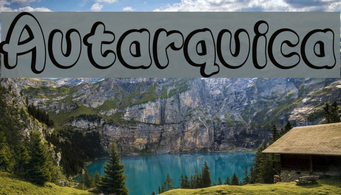 Autarquica Font examples