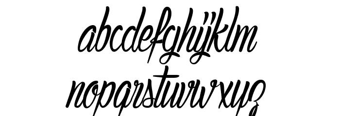 AuthenticHilton Font LOWERCASE