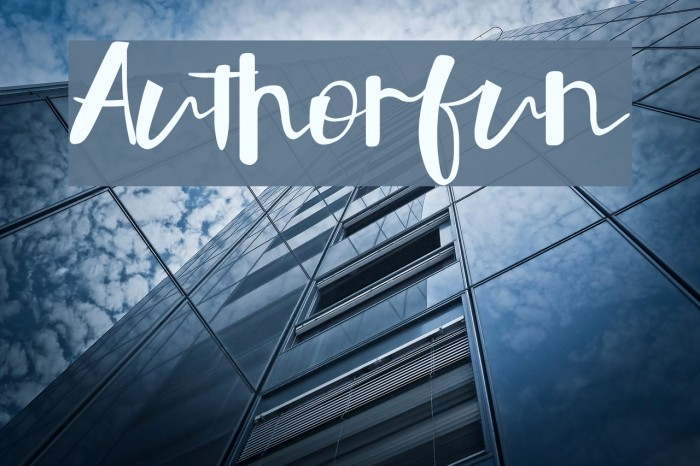 Authorfun Font examples
