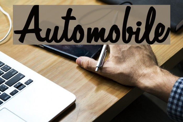 Automobile Schriftart examples