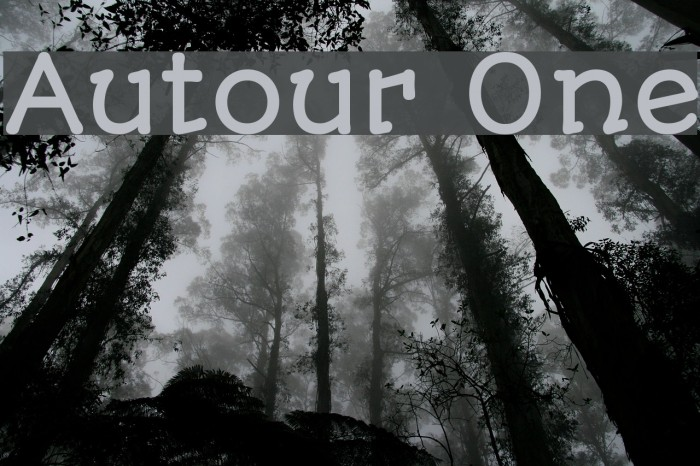 Autour One Шрифта examples