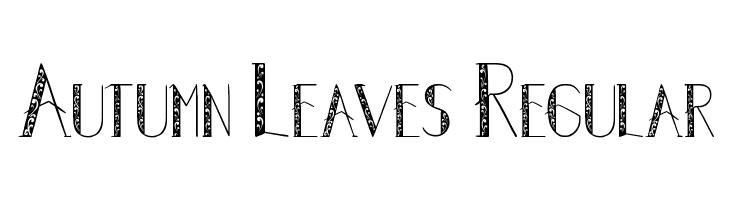 Autumn Leaves Regular  नि: शुल्क फ़ॉन्ट्स डाउनलोड