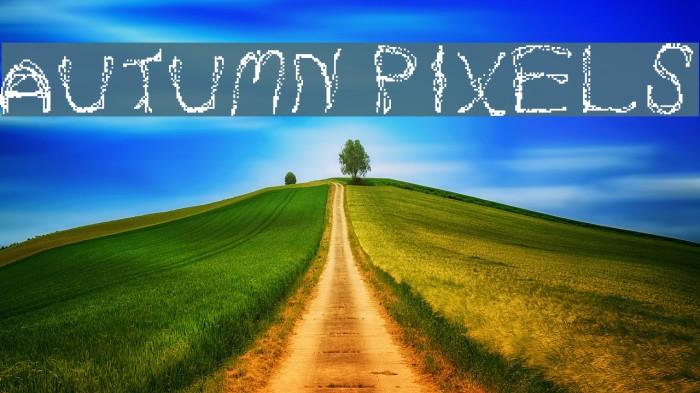 Autumn Pixels Шрифта examples