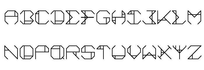 aurora Font UPPERCASE