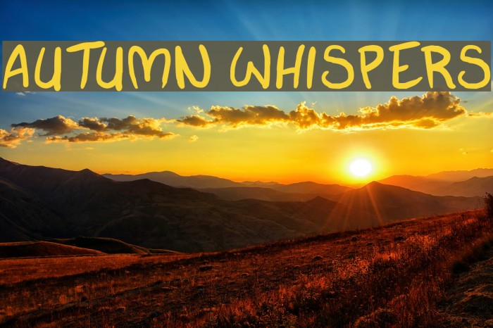 autumn whispers Fonte examples