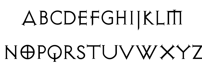Avalon Quest Font LOWERCASE