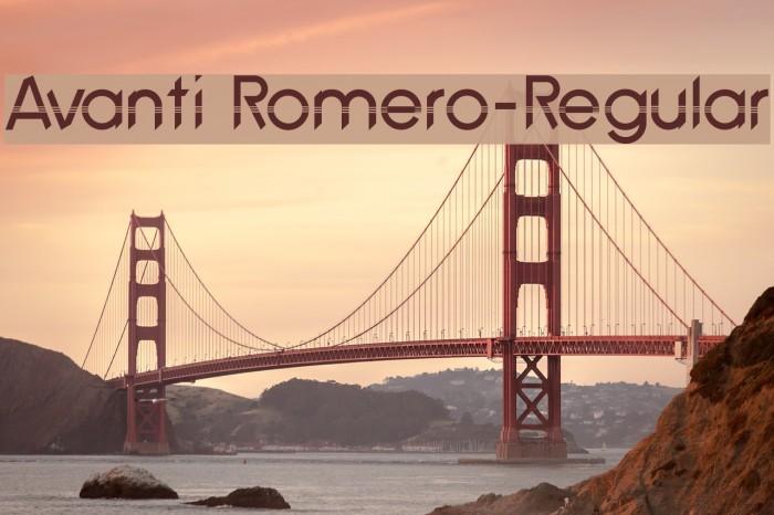 Avanti Romero-Regular لخطوط تنزيل examples
