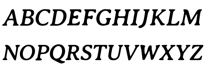 Averia Serif Libre Bold Italic Шрифта ВЕРХНИЙ