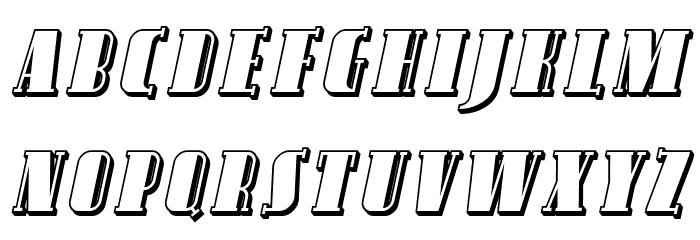 Avondale SC Shaded Italic फ़ॉन्ट अपरकेस