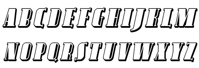 Avondale SC Shaded Italic फ़ॉन्ट लोअरकेस