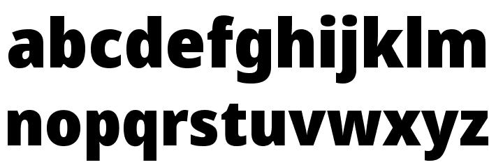Avrile Sans Black Schriftart Kleinbuchstaben