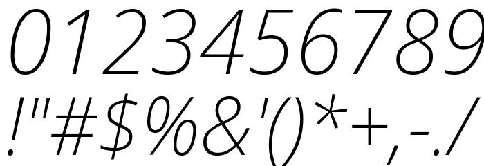 Avrile Sans ExtraLight Italic Schriftart Anderer Schreiben