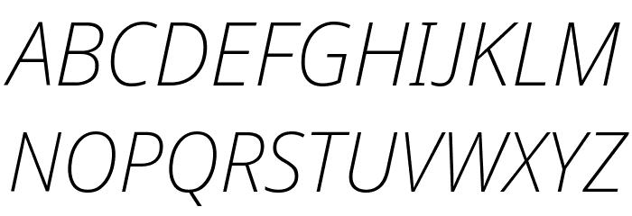 Avrile Sans ExtraLight Italic Schriftart Groß