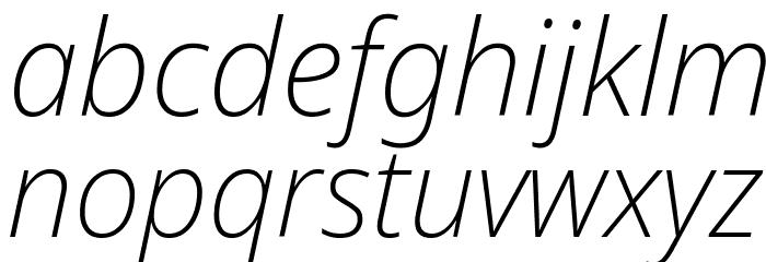 Avrile Sans ExtraLight Italic Schriftart Kleinbuchstaben